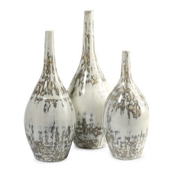 iMax - iMax Hampton Mexican Pottery Vases - Set of 3 X-3-12648 - The Hampton Mexican pottery vases have traditional clay bodies and look great in a variety of room settings.
