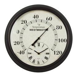 Luster Leaf - Luster Leaf Lincoln Clock and Thermometer (20057) - Luster Leaf 20057 Lincoln Clock and Thermometer