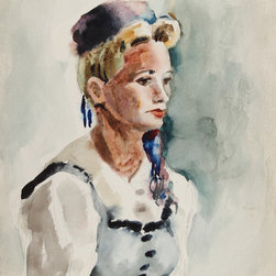 Eve Nethercott, Portrait of a Woman (87), Watercolor - Artist:  Eve Nethercott, American (1925 - )