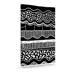"""Kess InHouse - Vasare Nar """"Abiodun Tribal"""" Black White Wrapped Art Canvas (12"""" x 10"""") - Bring your outdoor patio to life with this artistic outdoor canvas wrap featuring gorgeous artwork by KESS InHouse. These canvases are not only easy to hang and remove but also are the perfect addition to your patio collection. These canvases are stretched around a wooden frame and are built to withstand the elements and still look artistically fabulous. Decorating your patio and walls with these prints will add the splash of art and color that is needed to bring your patio collection together! With so many size options and artwork to choose from, there is no way to go wrong with these KESS Canvas Wraps!"""