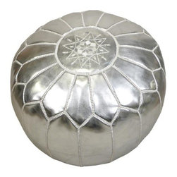 John Derian Company Inc. Silver Pouf - Poufs are here to stay, and we get plenty of questions here at Houzz about sources. John Derian has every color in the rainbow and then some, like glamorous silver.