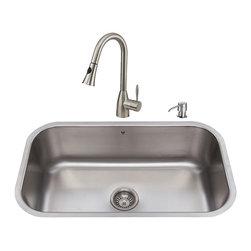 VIGO Industries - VIGO Undermount Stainless Steel Kitchen Sink, Faucet, Colander, Grid, Strainer a - VIGO keeps your needs in mind when it comes to kitchen essentials.