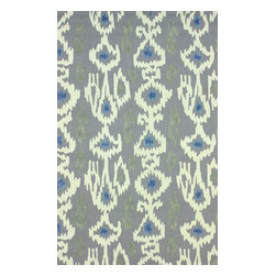 nuLOOM - Contemporary 5' x 8' Grey Hand Hooked Area Rug Cotton VST31 - Made from the finest materials in the world and with the uttermost care, our rugs are a great addition to your home.