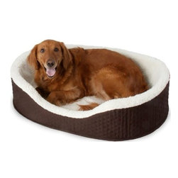 Doskocil Manufacturing - 28In Medium Twill Lounger - Foam based lounger insulates your pet from cold, hard floors. Promotes instinctive nesting. Raised sides reduce drafts.            Size LxWxH=28x22x8