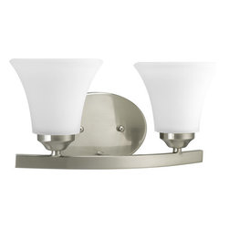 Progress Lighting - Progress Lighting P2009-09 Adorn Two Light Bathroom Vanity Light Brushed Nickel - Features: