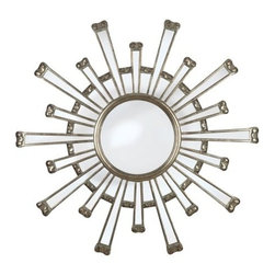 """Kenroy Home - Kenroy Home 60009 36"""" Wall Mirror Cameron Collection - 36"""" Wall Mirror from the Cameron CollectionKenroy Home offers the finest in decor, performance, and value.  Their chandeliers, ceiling lighting and indoor and outdoor wall lighting capture the essence of lighting technology, and combine it with styling points of view ranging from classical and traditional, to contemporary and casual.  Kenroy lamps and portable lighting utilize a wide variety of materials, and create artistic elements that complement your home furnishings as well as make their own statements.  Particular care is paid to hand applied polishing and painting, matched with the finest in glass and shade treatments.  Fountains are the latest Kenroy Home category entry, and are designed and crafted to blend with various interior and exterior decors. They add soothing movement and the gentle sounds of falling water to unique artistry created in real and simulated stone, metal and ceramics.As bold and beautiful as the sun, Cameron's eye catching design will add a huge style statement to your living room or master bedroom."""