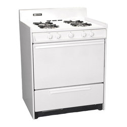 "Brown - 30"" Gas Range Battery Ignition - Color: white
