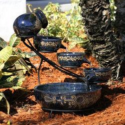 Smart Solar - Smart Solar Imperial Ceramic Cascade Solar Fountain -