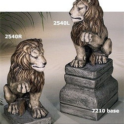 Lion (Right or Left Paw Up) Statue - Welcome your guests in sophistication with this Lion Statue. This elegantly constructed statue will add elegance to any room of your house or garden. Use this with 7210 Lion Base for a more magnificent effect.
