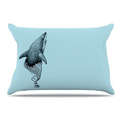 "Kess InHouse - Graham Curran ""Shark Record II"" Pillow Case, Standard (30"" x 20"") - This pillowcase, is just as bunny soft as the Kess InHouse duvet. It's made of microfiber velvety fleece. This machine washable fleece pillow case is the perfect accent to any duvet. Be your Bed's Curator."