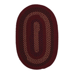 """Colonial Mills - Braided Deerfield Oval 3'0""""x5' Oval Red Area Rug - The Deerfield area rug Collection offers an affordable assortment of Braided stylings. Deerfield features a blend of natural Red color. Machine Made of 100% Polypropylene the Deerfield Collection is an intriguing compliment to any decor."""
