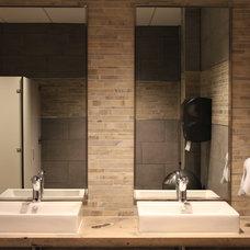 Modern Vanity Tops And Side Splashes by Reg Noël Design Inc.
