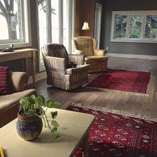 Craftsman Living Room by Tucker Construction Ltd.