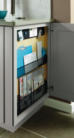 Diamond Message Center Cabinet - The Diamond Base Message Center cabinet brings order to what is often a messy drop-zone area in the kitchen. It provides a handy magazine holder, mail holder, and a bullentin board for appointment cards and reminders. http://www.diamond.com