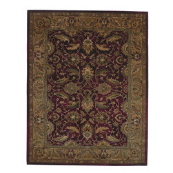 Regency 7000-01 Ivory Rug - Mystical Garden is a statement of style and personal taste. Completely handcrafted from 100% virgin wool,? this collection of timeless designs offers the flexibility and durability for today's hectic lifestyle while offering elegance and beauty rarely seen. Hand crafted in India.