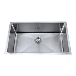 "Kraus - Kraus 30"" Undermount Single Bowl Stainless Steel Sink Combo Set - Add an elegant touch to your kitchen with unique Kraus kitchen combo"