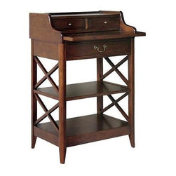Wayborn - Eiffel Desk - 2 Small drawers. 1 Large storage drawer. 1 Slide-out top. 2 Open shelves. Made from Birchwood. Smooth finish. 23.5 in. W x 16 in. D x 36 in. H (57 lbs.)