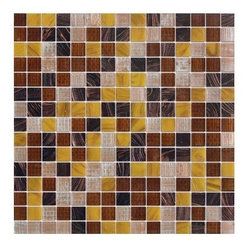 MS International - Elixir Jazzy Yellow Blend 3/4 in.x 3/4 in. Mesh-Mounted Glass Mosaic Tile-Sample - Elixir Jazzy Yellow Blend 3/4 in. x 3/4 in. Mesh-Mounted Glass Mosaic Tile. It features a recycled glass to provide a personalized unique look in your home. These tiles accentuate any installation with various design options. This is a 4 in. x 4 in. Sample.