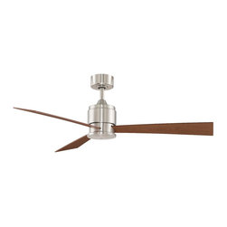 "Fanimation - Fanimation FP4620BN Zonix Brushed Nickel 54"" Ceiling Fan + Wall Control - Features:"