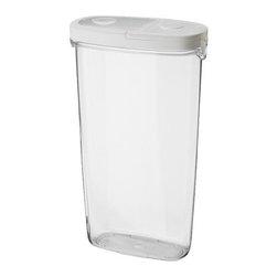 Håkan Olsson - IKEA 365+ Jar with lid - Jar with lid, clear, white