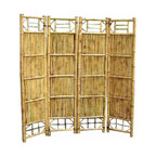 """Master Garden Products - Bamboo Screen, 4 Panel Self Standing Screens, 72""""W x 72""""H - Bamboo screen and room dividers can be used indoors or outdoors in residential or any commercial facilities, to separate an area for privacy or for creating extra room. They can be folded and stored away easily when not in use. Constructed with Chinese bamboo"""