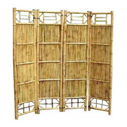 "Master Garden Products - Bamboo Screen, 4 Panel Self Standing Screens, 72""W x 72""H - Bamboo screen and room dividers can be used indoors or outdoors in residential or any commercial facilities, to separate an area for privacy or for creating extra room. They can be folded and stored away easily when not in use. Constructed with Chinese bamboo"
