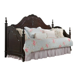 Homelegance - Homelegance Cinderella Day Bed in Dark Cherry - The Cinderella collection is your little girl s dream. The Victorian styling incorporates floral motif hardware, Dark cherry finish and traditional carving details that will create the feeling of a room worth of a fairy tale princess.