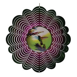 Great World - 12 Inch Holographic Flying Hummingbird with Flowers Wind Spinners - This gorgeous 12 Inch Holographic Flying Hummingbird with Flowers Wind Spinners has the finest details and highest quality you will find anywhere! 12 Inch Holographic Flying Hummingbird with Flowers Wind Spinners is truly remarkable.