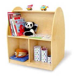 Toddler Arch Rolling Storage Shelf - What a cute, toddler-friendly bookshelf! There's plenty of space for books and toys, and the shelf is low enough for little hands to reach. I also appreciate the rounded corners and edges.