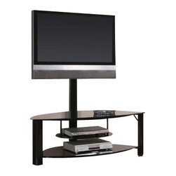 "Coaster - TV Console (Black) By Coaster - Athena TV Stand features a very durable and sturdy metal base with tempered black glass. It will instantly bring more grace and elegance to any contemporary styled room. Dimensions:27""W x 50""D x 54""H Some assembly may be required. Please see product details."