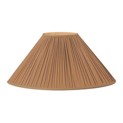 Royal Designs, Inc. - Brown Pleated Oval Designer Lampshade - This Pleated Oval  Designer Lampshade is a part of Royal Designs, Inc. Timeless Designer Shade Collection and is perfect for anyone who is looking for an elegant yet detailed lampshade. Royal Designs has been in the lampshade business since 1993 with multiple shade lines that exemplify handcrafted quality and value.