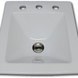 Square sink with Faucet Holes - YB-42-100 Square sink w/ Faucet Holes. Please specify holespread