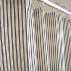 traditional shower curtains by Etsy