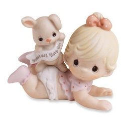 Precious Moments - Precious Moments Sweetest Baby Girl Porcelain Figurine - Offer a memorable keepsake for the little one with this Precious Moments Sweetest Baby porcelain figurine.