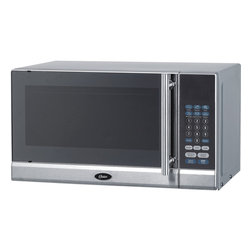 Oster - Oster OGG3701 Stainless Steel 0.7-Cubic Foot Microwave Oven - This Oster OGG3701 microwave oven,equipped with 700 watts of power and 10 adjustable power levels,makes cooking simple and easy. Whip up dinner easily with the auto cooking menu functions express cooking and weight defrost options.