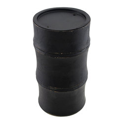 Dark Brown Bamboo Shaped Pillar Candle Holder - This wooden bamboo shaped pillar candle pedestal adds a lovely accent to tables, mantels, or shelves in your home. It measures 7 1/4 inches tall, 3 3/4 inches in diameter, and accommodates up to 3 inch diameter candles. This piece looks great as a single accent, or displayed in pairs, and it makes a nice housewarming gift for a friend.