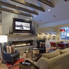 Traditional Living Room by Denton House Design Studio