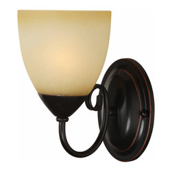Hardware House - Oil Rubbed Bronze 1 Light Wall Sconce / Bathroom Fixture - Finish: Oil Rubbed Bronze