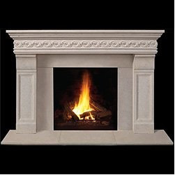 Taunton Stone Fireplace Mantel - For a formal dining or living space, the regal Taunton Stone Fireplace Mantel would look impeccable. -Mantels Direct