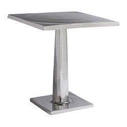 Allan Copley Designs - Allan Copley Designs Surina Square End Table in Cast Aluminum - The Surina Collection by Allan Copley designs brings simplistic distinction to its surroundings and decor. This Cast aluminum collection is suitable for indoor or outdoor use and provides versatility and function with the Bunching opportunities. Surina Collection includes Round Cocktail, Square End and Square Bunching Table