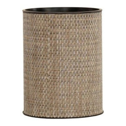 Lamont Home - Roxie Round Wastebasket Multi Brown - Made from high quality PVC/Polyester fabric, these traditional styles have been updated in a wide range of patterns to match any decor. A vinyl lid with metal grommet completes the look for the hamper. A very durable product that adds style to any laundry room.