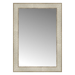 """Posters 2 Prints, LLC - 15"""" x 21"""" Libretto Antique Silver Custom Framed Mirror - 15"""" x 21"""" Custom Framed Mirror made by Posters 2 Prints. Standard glass with unrivaled selection of crafted mirror frames.  Protected with category II safety backing to keep glass fragments together should the mirror be accidentally broken.  Safe arrival guaranteed.  Made in the United States of America"""