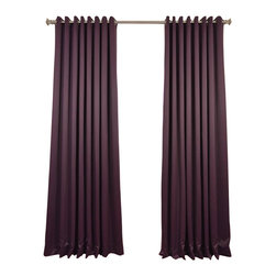 Exclusive Fabrics & Furnishings, LLC - Aubergine Grommet Doublewide Blackout Curtain - SOLD PER PANEL. 100% Polyester. Grommet. Unlined. Imported. Weighted Hem. Dry Clean Only.