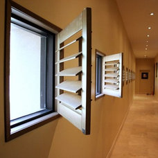 Contemporary Window Blinds by Wood Shutters For Sale