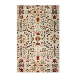 "Home Decorators Collection - Home Decorators Area Rug: Lumiere Beige 9' 9"" x 13' 9"" - Shop for Flooring at The Home Depot. From the Antoinette collection, this transitional rug will enhance any floor in your home. Beautifully made with 100% wool, this hand-tufted rug has a plush 5/8 in. thick pile that combines comfort with aesthetics. Add warmth and style to your home; order your Lumiere rug today."