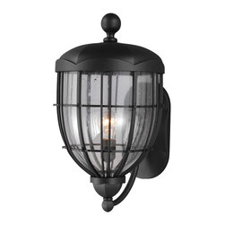 Murray Feiss - Murray Feiss OL9804TXB River North 1 Bulb Textured Black Outdoor Lantern - Murray Feiss OL9804TXB River North 1 Bulb Textured Black Outdoor Lantern