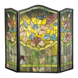 "Meyda Lighting - Meyda Lighting 27237 40""W x 34""H Butterfly Folding Fireplace Screen - Meyda Lighting 27237 40""W x 34""H Butterfly Folding Fireplace Screen"