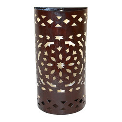 Badia Design Inc. - Moroccan Rustic Iron Wall Sconce Lighting - Hand Carved from Wrought Iron