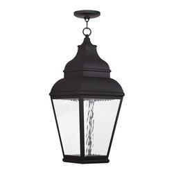 Livex Lighting 20267-04 Exeter Outdoor Chain Hang Lantern  Black - Finish: Black