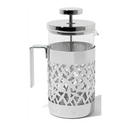 "Alessi - Marta Sansoni Cactus! Press Filter Coffee Maker or Infuser - Perfect for every tea/coffee drinker, the Marta Sansoni Cactus! Press Filter Coffee Maker or Infuser is an ideal gift or kitchen accessory. The unique design of this press make it very appealing and one of a kind! Features: -Press filter coffee maker or infuser. -Simply elegant. -Magnetic steel heat diffusing base. Specifications: -Capacity: 24.3 oz.. -Dimensions: 3.92"" W x 8.8"" H. -Material: Stainless Steel."